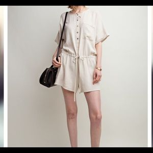 Easel button up romper